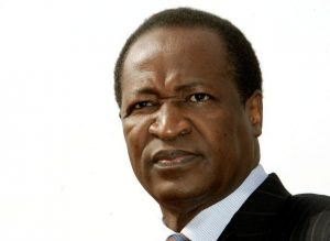 Burkina Faso President Blaise Compaore attends the 10th Francophone countries summit arrival ceremon..